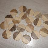 Заготовки круглые деревянные Инь-Янь