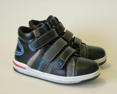 Шикарные Ботинки KLF Демисезонные ботинки для мальчика кожа комбинированая