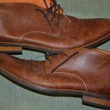 Кожаный фирменный деми ботинок Van Lier