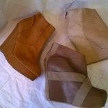 удобные кожаные ботильоны 39-40 р., бренд, качество