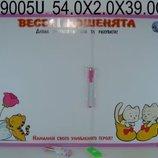 Доска 54-39см магнитно-рисовальная двусторонняя настенная 9879-115U/449005U