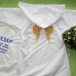 Крестильный халатик с капюшоном