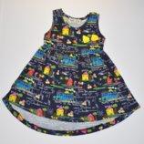 Распродажа Суперское платье темно-синего цвета с моднючим принтом
