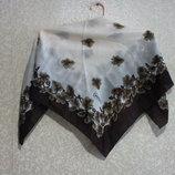 Шарф платок BERIVAR 80х80 см летний, нарядная косынка