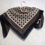 Шарф платок длина 80 см, ширина 80 см летний, нарядная косынка