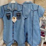 Джинсовые рубашки Самые модные 8,9.10,11 лет