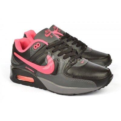 350fea92 Кроссовки кожаные Nike Air Max 90 женские Pink&Black черные с розовым 36  размер