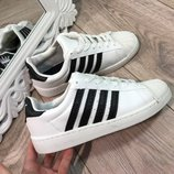 Женские кроссовки белые Adidas Superstar