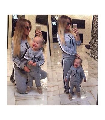 c9f5ecfd431e Family look комплект теплый стильный костюм Calvin Klein дочка как мама