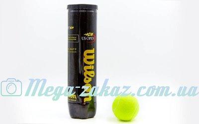 Мяч для большого тенниса Wilson US Open T1162 4 мяча в вакуумной упаковке