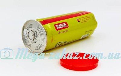 Мяч для большого тенниса Teloon T818P3 Z-Court 3 мяча в вакуумной упаковке