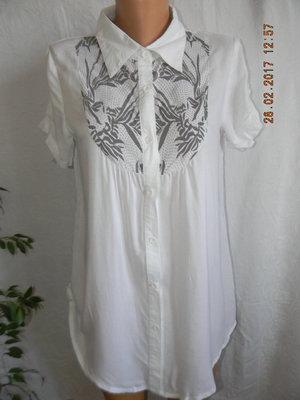 Легкая удлиненная блуза -рубашка