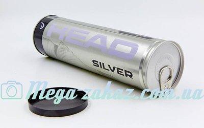 Мяч для большого тенниса Head Silver 571304 4 мяча в вакуумной упаковке