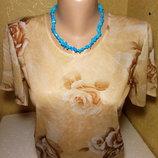 Ожерелье - натуральная нитка бирюзы