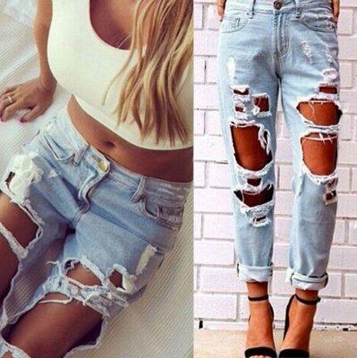 2d3a0170 джинсы рваные женские Хит бойфренды штаны брюки для женщин: 750 грн ...