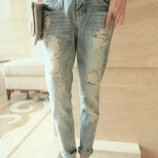 джинсы рваные женские Хит бойфренды штаны брюки для женщин