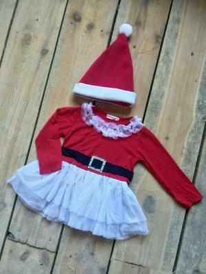 карнавальное платье Мисс Санта 9 м - 1 год года 80 см