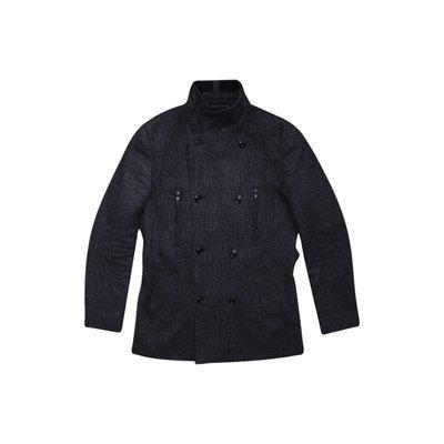 Акция Подарок Мужское пальто темно серое шерстяное теплое New Look Men S M