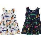 Детское хлопковое летнее платье с оригинальной спинкой, 3 цвета, 2-7 года, новые