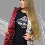 Новинка Молодежная двусторонняя курточка Агнешка весна, осень