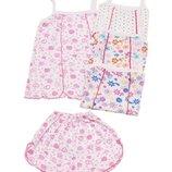 Летняя пижама для девочки топ и шорты