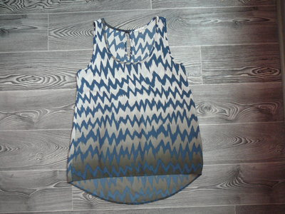 Обалденная блузка с заниженной спинкой амбре красивого джинсового цвета