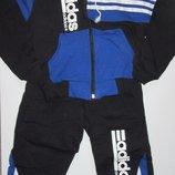 Костюм спортивный сине-черный, размер 26 Турция
