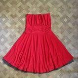 красивое красное платье Boohoo - 10Uk - наш 40-42рр.
