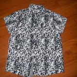 Новая стильная рубашка некст на 4-6лет
