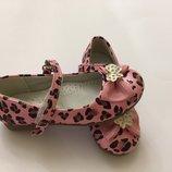 Туфли розовые леопард