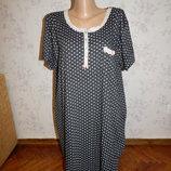 ночнушка, домашнее платьеце можно для кормления р18-20 большой размер