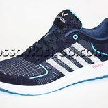 Кроссовки реплика Adidas light blue сетка 40р