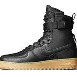 Женские кроссовки Nike Air Force SF1 - черные