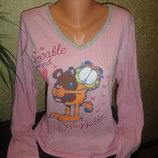 Стильный реглан для дома или верх от пижамы Garfield р.L. 46-50