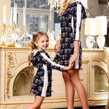 Family Look стильное платье Шанель мама дочка разные цвета
