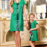 Family Look элегантное платье, туника мама дочка разные цвета