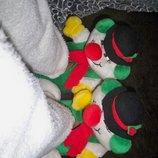 Фірмові теплі домашні тапки-м які іграшки клоуни, 36-39.