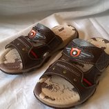 Крутые сандалии шлепанцы 33р. 20,3 см., кожаная стелька