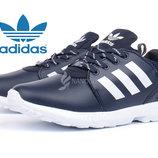 Кроссовки кожаные Adidas ZX Flux Torsion мужские темно синие