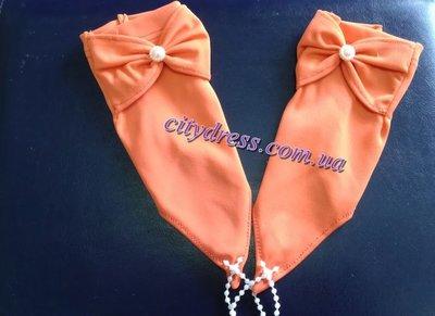 атласные детские перчатки под платья
