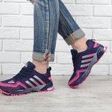 Кроссовки Adidas Marathon TR 21 синие с розовым