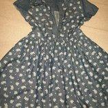 Цветное джинсовое платье George 6-7л,