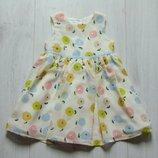 Нежное нарядное платье для маленькой принцессы. Debenhams. Размер 9-12 месяцев, будет дольше