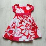 Яркое платье для девочки. Mothercare. Размер 12-18 месяцев, будет дольше