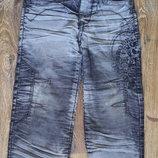 Оригинальные джинсы на флисе, р.104-116