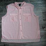 Классная блузка с трикотажной удлиненной спинкой размер l-ка 12-14 размер