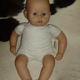 Скидка кукла-пупс Беби Аннабель Вaby Annabell 9 версия Zapf Creation Германия оригинал клеймо 46 см