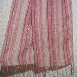 Шарф платок 180х26 см летний, нарядная косынка