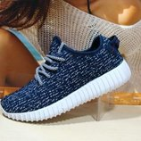 Акция Кроссовки женские Adidas Yeezy Boost 350 синий 36р-41р