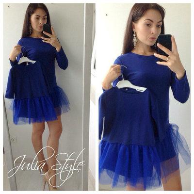d718df4fc580 Family Look комплект 2 платья с юбкой фатин мама дочка разные цвета.  Previous Next